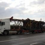 Перевозка башенного крана