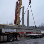 Перевозка бетонной балки длиной 18м весом 32т