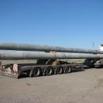 Перевозка бетонных опор для ЛЭП длиной 19,5м