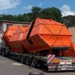 Перевозка бункеров торфодобывающей машины