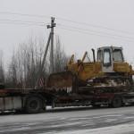 Перевозка гусеничного трактора БТ10