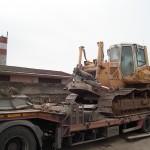 Перевозка гусеничного трактора LIEBHERR 724