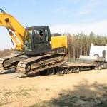 Перевозка гусеничного экскаватора HUNDAI 250LC