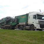 Перевозка гусеничной установки-грохота McCloskey