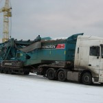 Перевозка гусеничной установки-грохота Powerscreen Chieftain 2100X