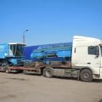 Перевозка зерноуборочного комбайна BIZON Z110
