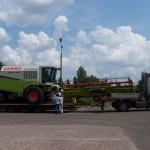 Перевозка зерноуборочного комбайна CLAAS Mega 360