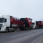 Перевозка зерноуборочных комбайнов ПОЛЕСЬЕ