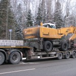 Перевозка колесного погрузчика LIEBHERR 924