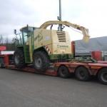 Перевозка кормоуборочного комбайна KRONE BigX500