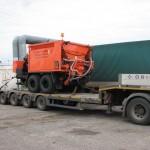 Перевозка машины для ямочного ремонта