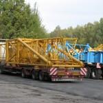 Перевозка металлоконструкции башенного крана