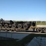 Перевозка шасси колесного тягача БАЗ-8035