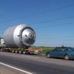 Сопровождение крупногабаритных грузов автомобилями ГАИ и прикрытия
